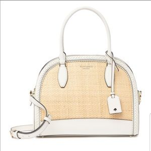 Kate Spade Reiley Straw Large Dome Womens Satchel